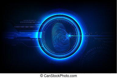 Biometrics Technology - illustration of abstract biometrics ...