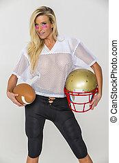biondo, football, modello