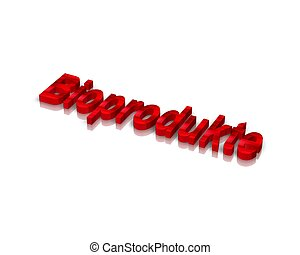bioprodukt  3d word