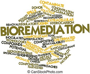 Bioremediation - Abstract word cloud for Bioremediation with...