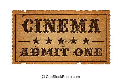 bioscoop, ticket