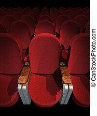 bioscoop, zetel