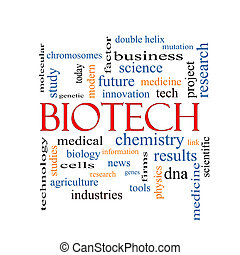 biotech, conceito, palavra, nuvem
