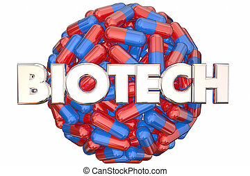 Biotech Meidcal Research Pills Medicine Cure 3d Illustration