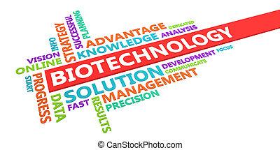 biotechnológia, szó, felhő
