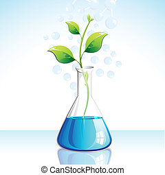 Biotechnological Plant - illustration of plant growing in...
