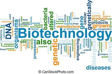 biotechnologie, wort, wolke