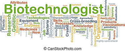 biotechnologist, achtergrond, concept