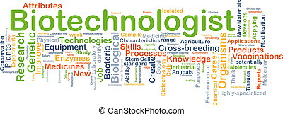 Biotechnologist background concept