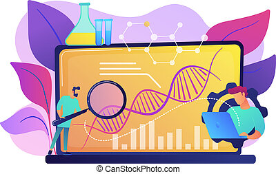 Biotechnology concept vector illustration.