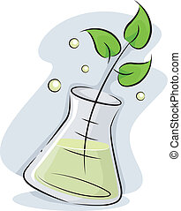 Biotechnology - Illustration Featuring a Plant Stalk Soaking...