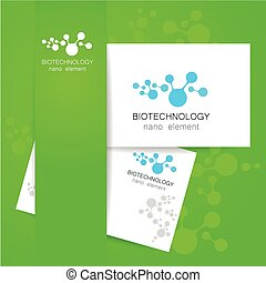 biotechnology logo - Biotechnology. Vector logo template.