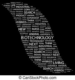BIOTECHNOLOGY. Word cloud concept illustration. Wordcloud ...
