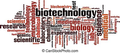 Biotechnology word cloud concept. Vector illustration