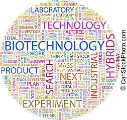 BIOTECHNOLOGY. Word cloud illustration. Tag cloud concept...