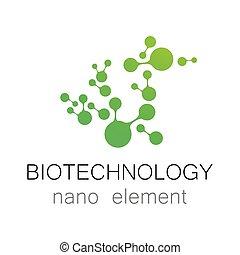 biotecnologia, nano, logotipo