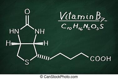 (biotin), modell, b6, vitamin, strukturell