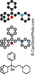 biperiden, parkinson's, 疾病, 藥物, molecule.