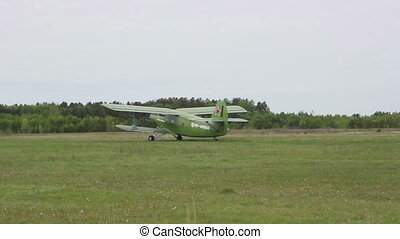 Biplane An-2 (Antonov)  at the on takeoff