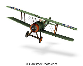 biplane cartoon - a cartoon biplane