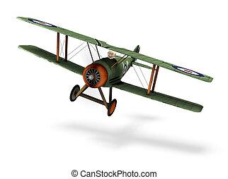 a cartoon biplane