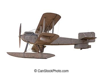 Biplane isolated on white background