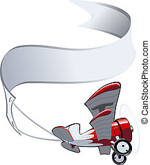 biplano, cartone animato