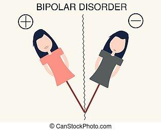 bipolar disorder, concept.