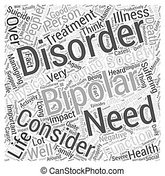 bipolar support Word Cloud Concept