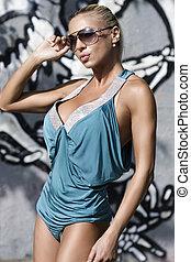 biquíni, modelo moda