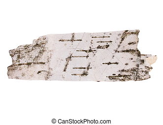 birch bark isolated on white