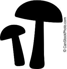 Birch bolete mushrooms, shade picture