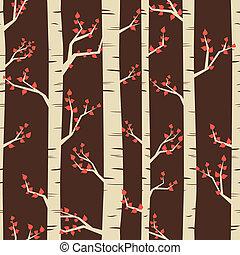 Birch Forest Background