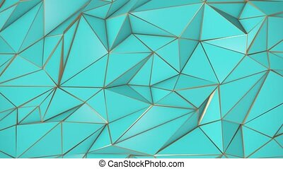 Birch-golden abstract low poly triangle background