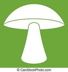 Birch mushroom icon green