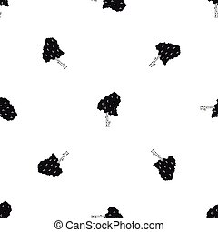 Birch pattern seamless black