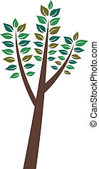 Birch tree image. Concept of new beginning and prosperus future.Vector icon