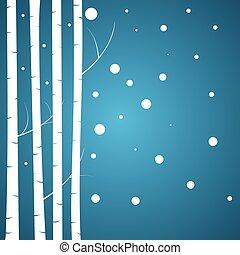 Birch vector background