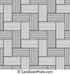 Birchbark Basketwork. - Easy to change color. Seamless...