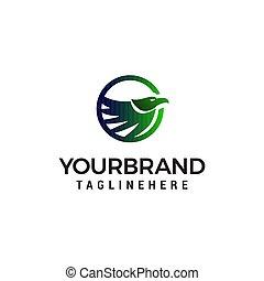 bird abstract logo design concept template vector