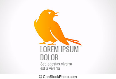 Bird Abstract logo template.