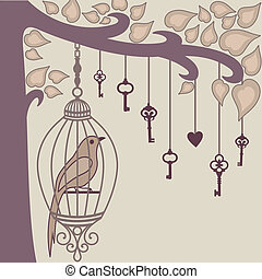 bird-and-keys-from-it`s-cage