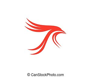 Bird and wing logo vector template