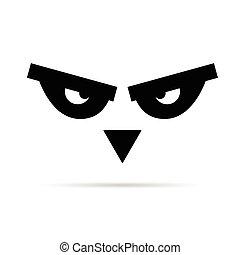 bird animal eye illustration