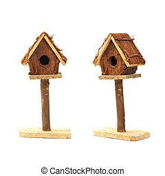 Bird Box - Bird House Nest Box Decorative Item Isolated on...