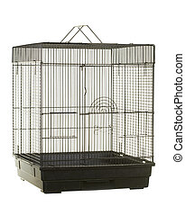 Bird Cage - Empty bird cage; isolated on white background