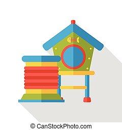 bird cage flat icon