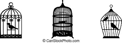 bird cage icon isolated on background