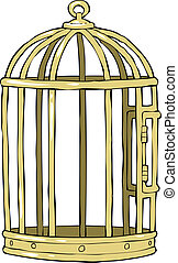 Bird cage on a white background vector illustration