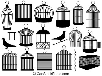 Bird Cages - Bird cages isolated on white